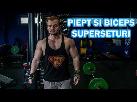 Piept si Biceps Superseturi | Vlog Slabire