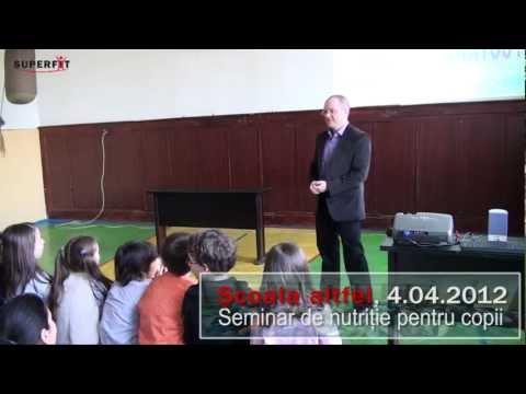 Scoala altfel – lectie de nutritie pentru copii (secvente)